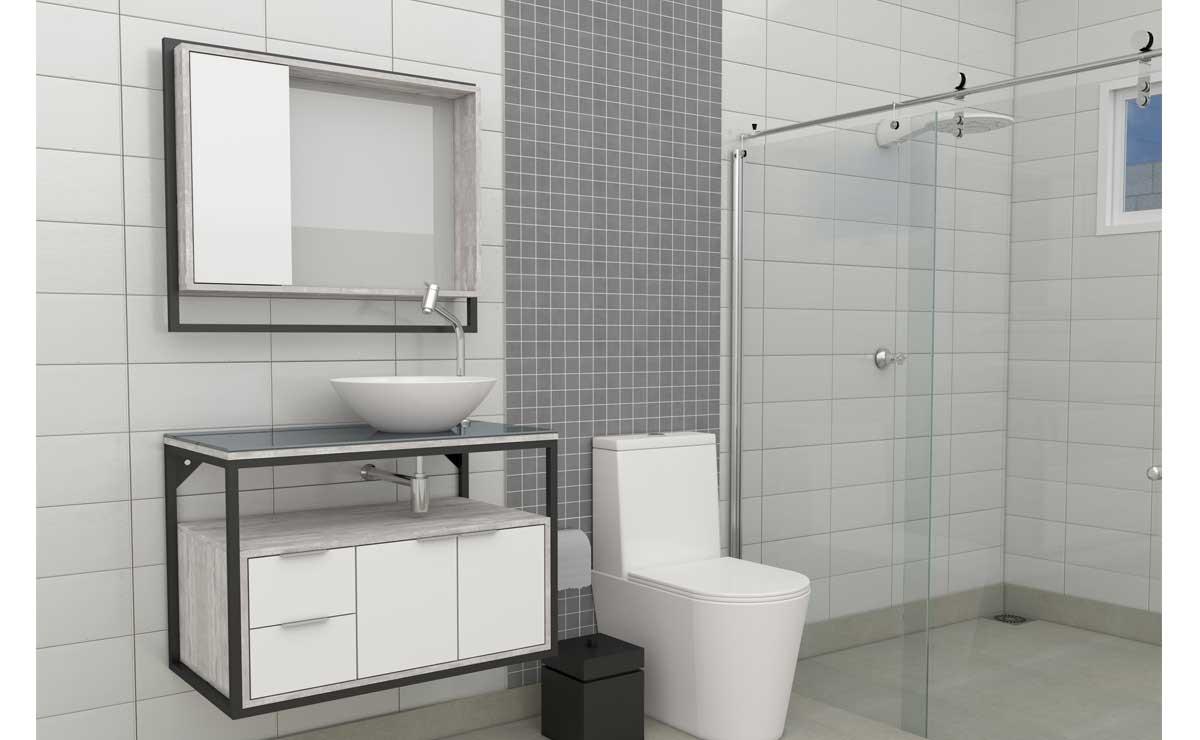Conjunto Para Banheiro Madeira Apoema 80 Cozimax Branco/Calcare