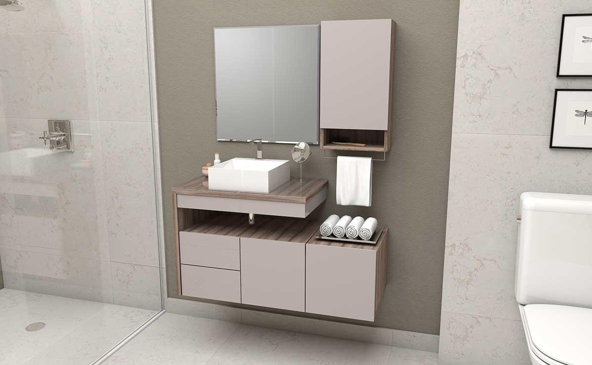 Conjunto Para Banheiro 4 Peças Aimoré Cozimax Nudi/Tamarindo
