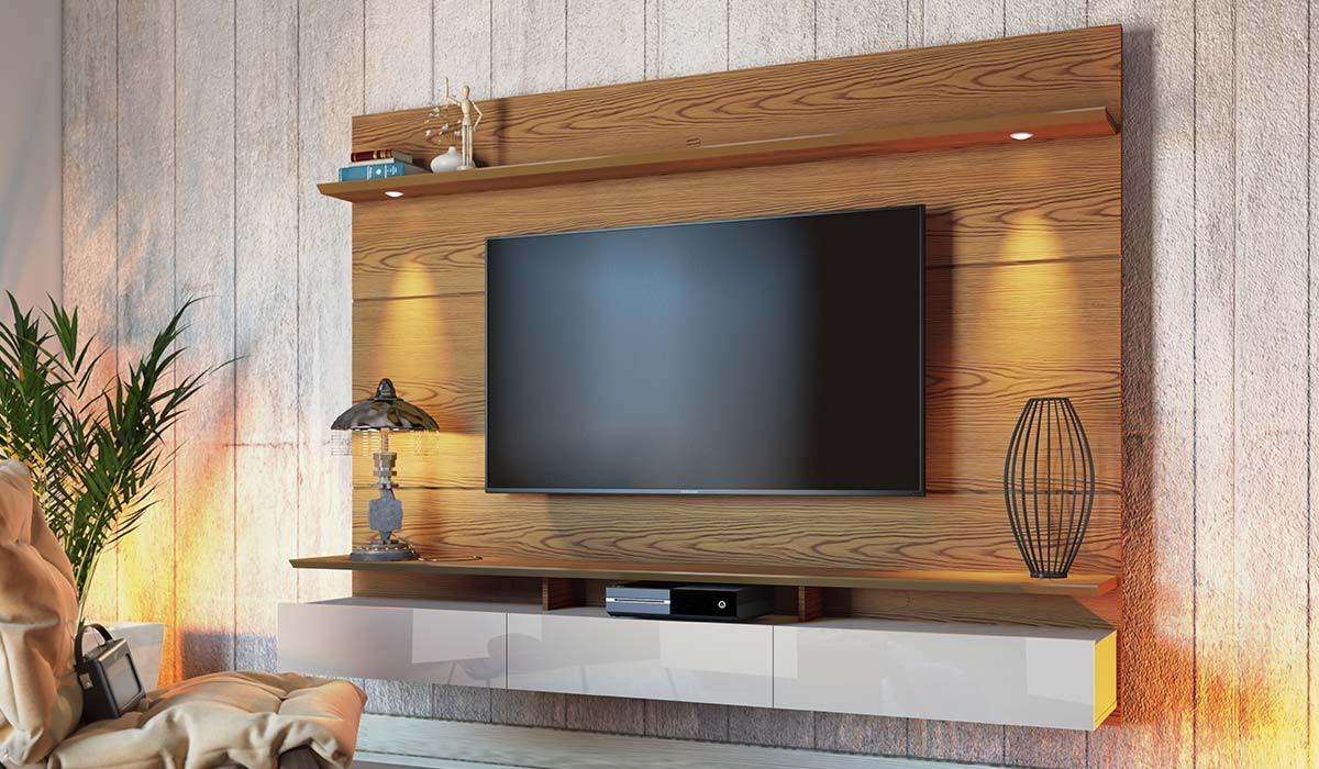 Home Suspenso Para TV 65 Polegadas Decore 2.2 Imcal Freijó/Off White