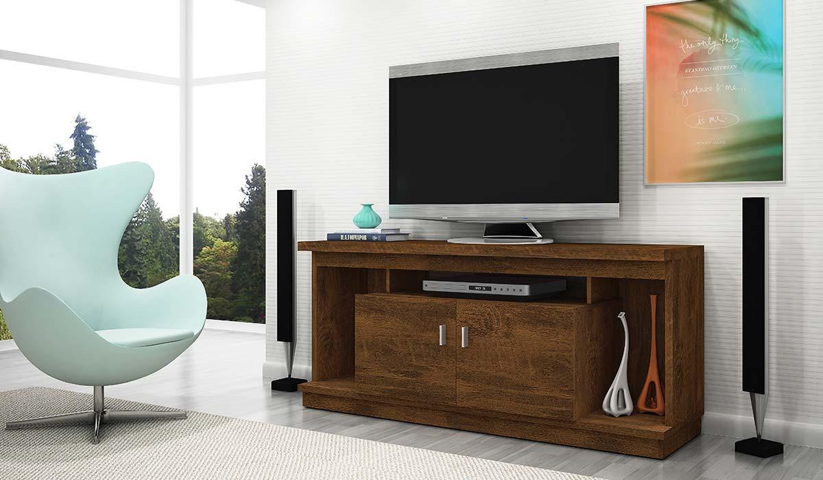 Rack Home Para TV 50 Polegadas Requinte 1.4 Lukaliam Canela