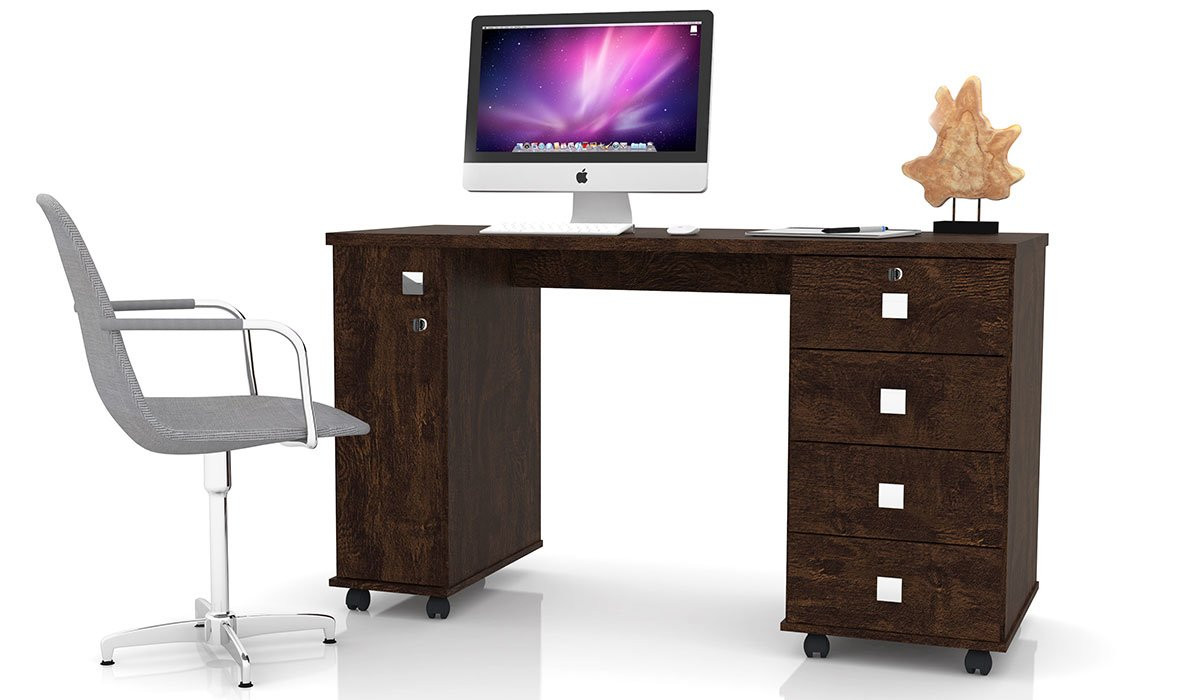 Escrivaninha Mesa Office Smart Lukaliam Noce