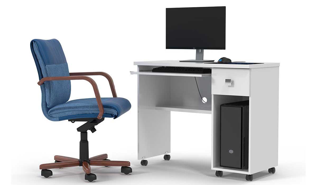 Mesa Para Computador Office Vicenza Lukaliam Branco
