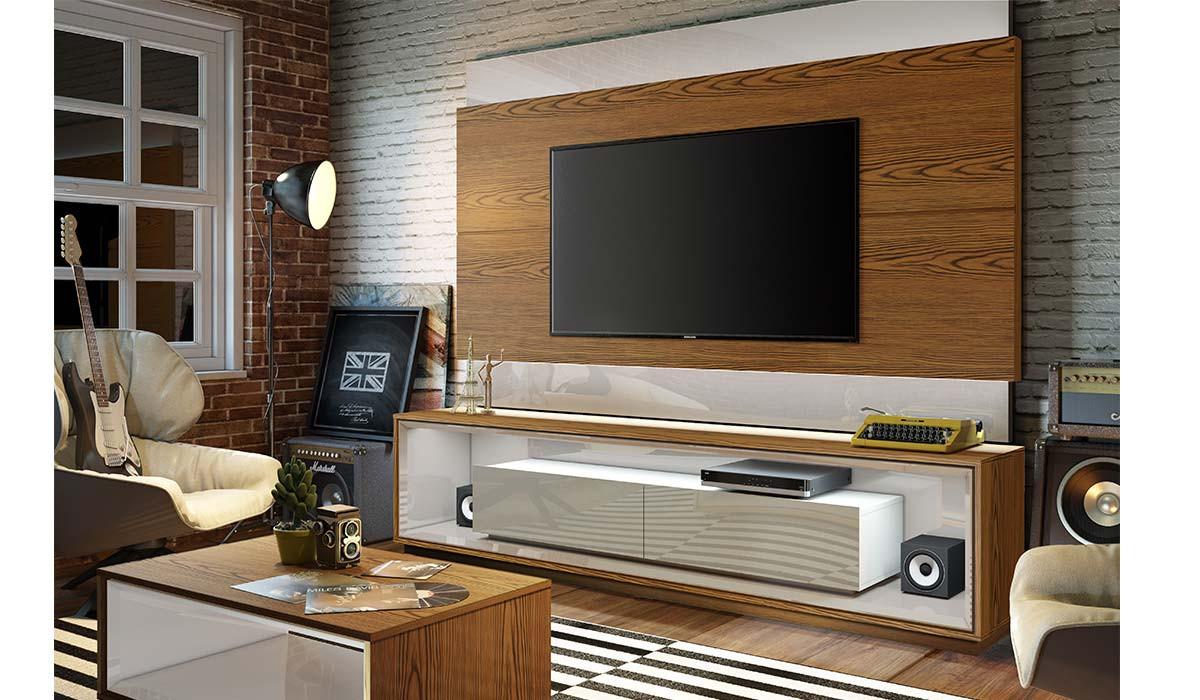 Painel Para TV 65 Polegadas Classic 2.2 Imcal Freijó/Off White