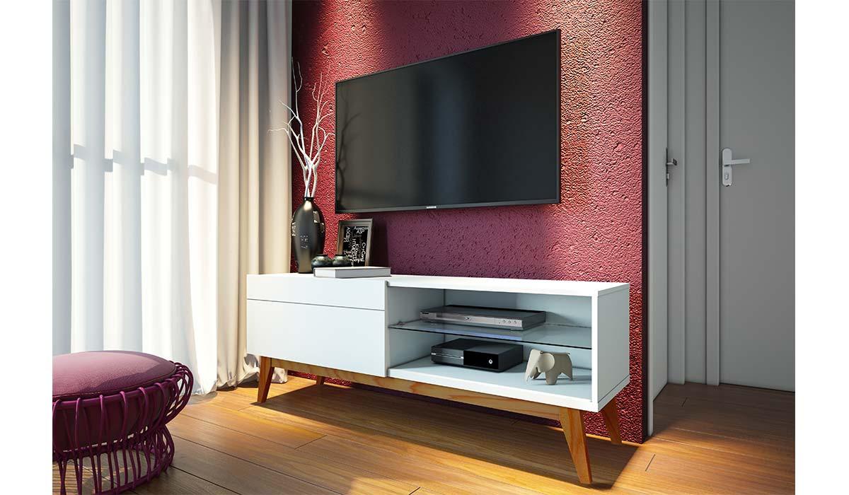 Rack Classic 1G 1.4 Para TV até 55 Polegadas Imcal - Branco