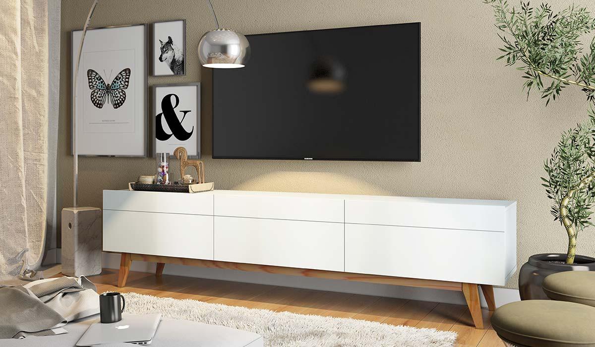 Rack Para Sala TV 65 Polegadas Classic 3G 1.8 Imcal  Branco