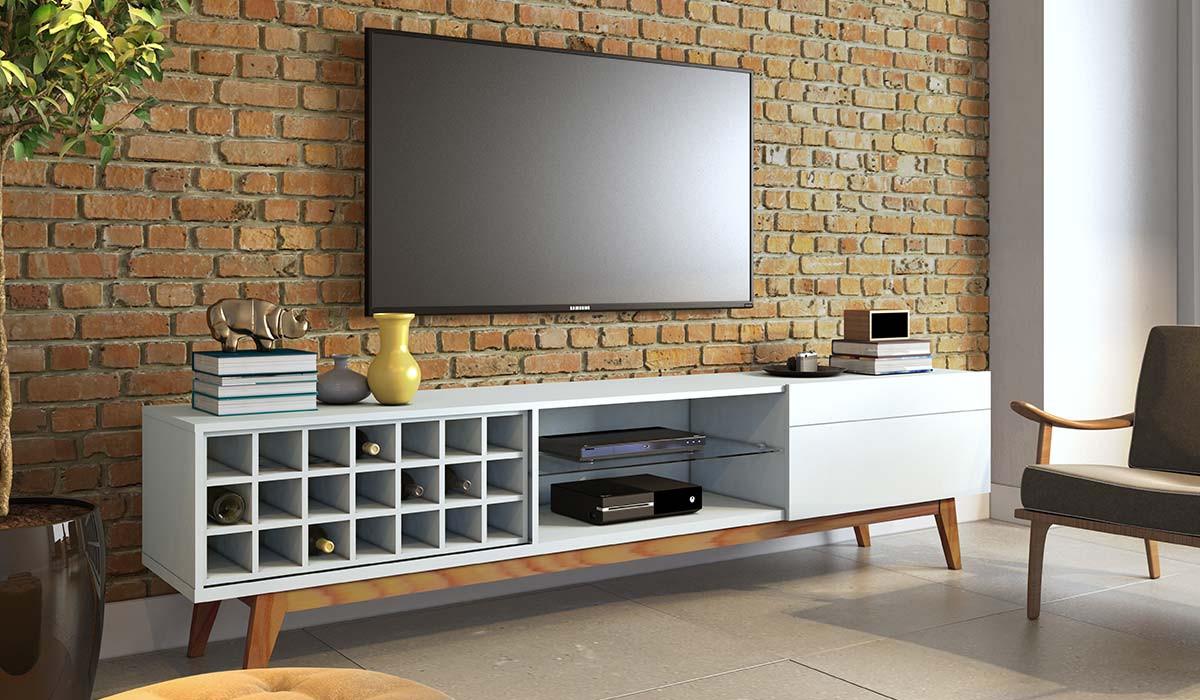 Rack Classic AD 1.8 Para TV até 65 Polegadas Imcal - Branco