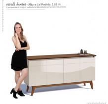 Balcão Buffet 4 Portas Classic Imcal - Off White/Freijó