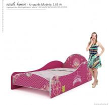 Cama Infantil Solteiro Menina Princesa Gelius Pink Plock