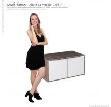 Módulo Suspenso Para Banheiro Arati 80 Cozimax Branco/Tamarindo