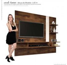 Painel Suspenso Para TV 50 Polegadas Cross 1.8 Lukaliam Canela/Vanilla