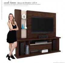 Estante Home Para TV 55 Polegadas Onix 1.8 Lukaliam Noce/Off White