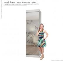 Sapateira Porta de Espelho 40 Pares Esmeralda Gelius Branco