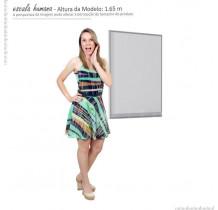 Espelho Para Banheiro Aço Gaia 60 Cozimax Branco