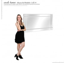 Espelho Bisotê Decorativo Para Aparador Buffet EDN