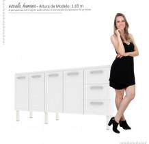 Gabinete Para Pia Cozinha Aço Apolo Flat 2.0 Cozimax Branco