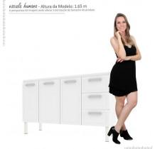 Gabinete Para Pia Cozinha Aço Apolo Flat 1.5 Cozimax Branco