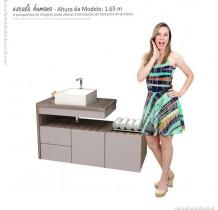 Gabinete Banheiro com Extensor  Sem Cuba Aimoré Cozimax Nudi/Tamarindo