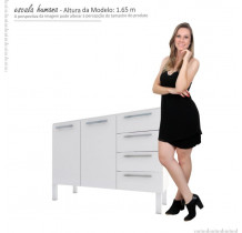 Gabinete de Pia 120 Vênus Flat 4G Cozimax Branco