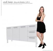 Gabinete Para Pia Cozinha Aço Vênus Flat 1.5 Cozimax Branco