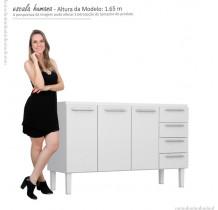 Gabinete de Pia 160 Vênus Flat 4G Cozimax Branco