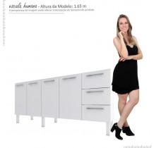 Gabinete Para Pia Cozinha Aço Vênus Flat 1.8 Cozimax Branco