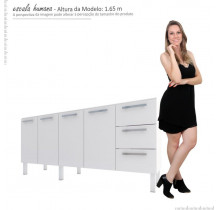 Gabinete Para Pia Cozinha Aço Vênus Flat 2.0 Cozimax Branco