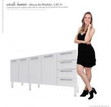 Gabinete de Pia 200 Vênus Flat 4G Cozimax Branco