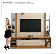 Estante Home Para TV 60 Polegadas Império EDN Off White/Cedro