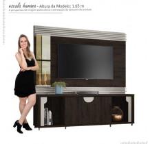 Estante Home Para TV 60 Polegadas Firenze Lukaliam Noce/Off White