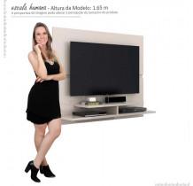 Painel Suspenso Para TV 50 Polegadas Mônaco 1.5 Lukaliam Off White