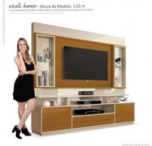 Estante Home Para TV 58 Polegadas Ravello EDN Off White/Cedro