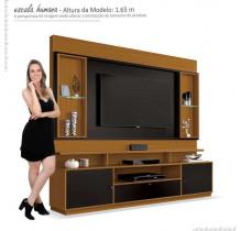 Estante Home Para TV 58 Polegadas Ravello EDN Cedro/Preto