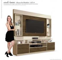 Estante Home Para TV 58 Polegadas Ravello EDN Off White/Nogal