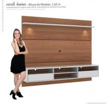 Painel Home Suspenso Para TV 60 Angra Mirarack Castanho/Off White