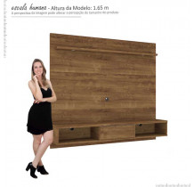 Painel Home Suspenso Para TV 60 Lovere Mirarack Canela