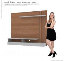 Painel Home Para TV 55 Madrid Mirarack Castanho/Off White