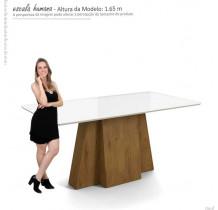 Mesa Para Sala de Jantar 170 x 90 Amalfi Lukaliam Canela