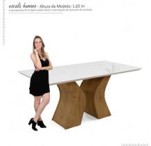 Sala de Jantar Santorini com 06 Cadeiras Creta Lukaliam Canela/Champagne