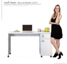 Mesa Para Computador Office Malta Lukaliam Branco