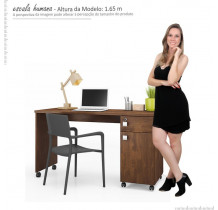 Mesa Para Computador Office Malta Lukaliam Canela