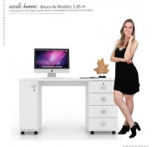 Escrivaninha Mesa Office Smart Lukaliam Branco