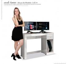 Mesa Gamer Para Computador Office Athena EDN Branco