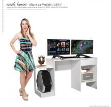 Mesa Para Computador Gamer 6099 JB Bechara Branco