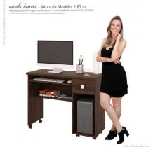 Mesa Para Computador Office Vicenza Lukaliam Noce