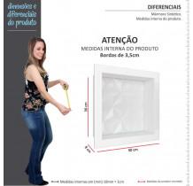 Nicho Para Banheiro 30x30 Mármore Sintético Cozimax Branco Textura