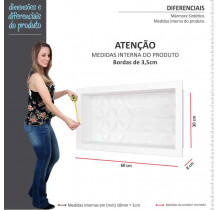 Nicho Para Banheiro 60x30 Mármore Sintético Cozimax Branco Textura