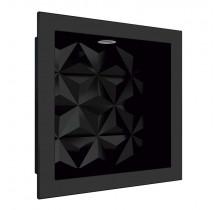 Nicho Para Banheiro 30x30 Com LED Mármore Sintético Cozimax Preto Textura
