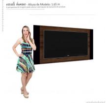 Painel Para TV Extensivo 1.40 a 1.80 Duetto Imcal Imbuia/Preto