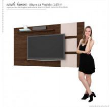 Painel Para TV 55 Polegadas Grécia 1.8 Lukaliam Noce/Off White
