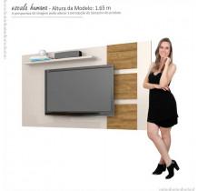 Painel Para TV 55 Polegadas Grécia 1.8 Lukaliam Off White/Amêndoa